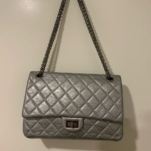 Chanel 2.55 reissue silver bag